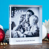 Personalised Photo Acrylic Block - father's day