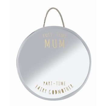 'The Best Mum' Hanging Mirror