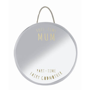 'Mum And Godmother' Hanging Mirror - bedroom