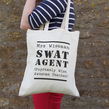 S W A T Personalised Teacher Bag