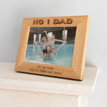 Personalised Number One Dad Photo Frame
