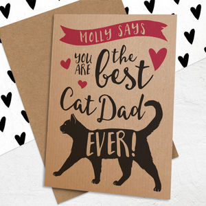 Best Cat Dad Ever Card - father's day cards