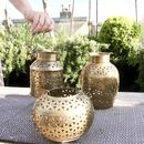 Brass Churn Tealight Holder