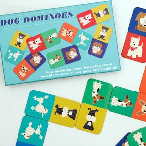 28 Piece Dogs Domino Game - toys & games
