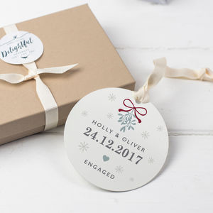 Personalised Christmas Engagement Keepsake Gift - view all new