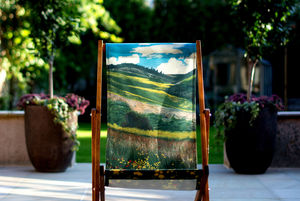 Landscape Art Print Deckchair Santa Fe - garden furniture