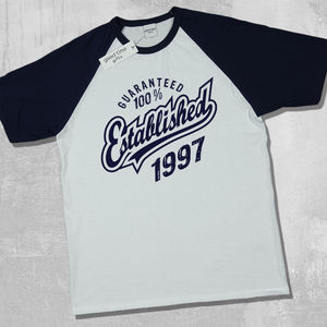'Established 1997' 21st Birthday T Shirt - 21st birthday gifts
