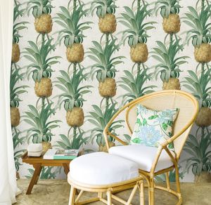 Ananas Wallpaper Set Of Three Rolls - office & study