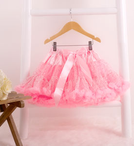 Light Pink Shimmer Pettiskirt Tutu - children's skirts
