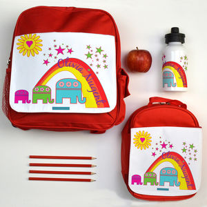 Personalised Back To School Set Elephants