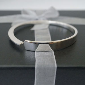 Personalised Wedge Bangle - bracelets & bangles