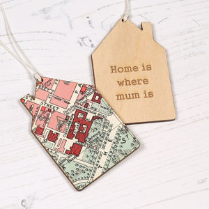 Personalised Map Location House Keepsake Gift For Her