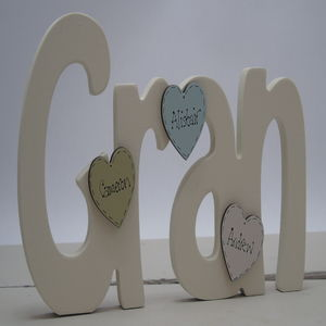 Gran Freestanding With Personalised Mini Hearts - home accessories