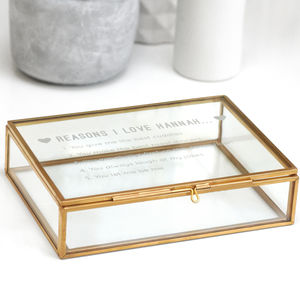 Personalised Reasons I Love You Box - jewellery storage & trinket boxes