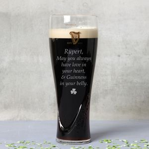 Personalised Message Guinness Glass - drink & barware