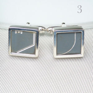 Concorde Sterling Silver Cufflinks - men's accessories
