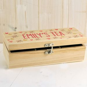 Personalised Tea Box A Perfect Gift - teas, coffees & infusions