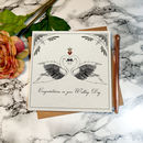 'Art Nouveau Swans' Wedding Card