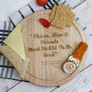 Personalised Friends Quote Cheese Board