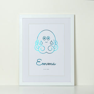 Personalised Foiled Monster Print - animals & wildlife