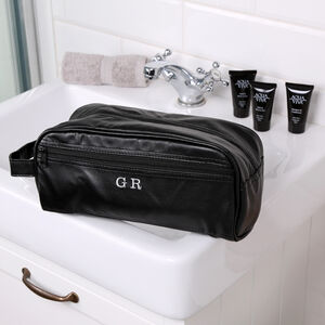 Personalised Men's Wash Bag And Towel Set