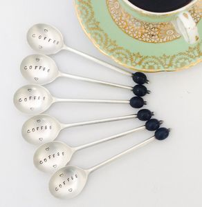 Hand Stamped Vintage Coffee Spoon Set - cutlery