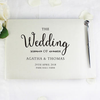 Personalised Wedding Gift Guest Book
