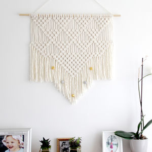 Handmade Triangle Macrame Wall Hanging