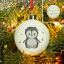 Personalised Bone China Penguin Christmas Decorations