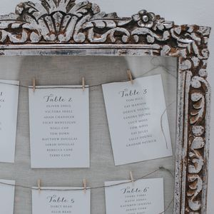 Anna Table Plan Cards - table plans