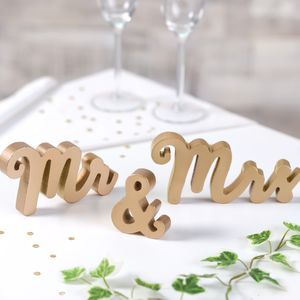 Mr And Mrs Gold Freestanding Words - decoration