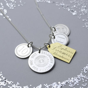 Loved Locations Personalised Silver Necklace - necklaces & pendants