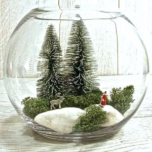 Christmas Santa And Reindeer Terrarium Kit - snow globes & ornaments