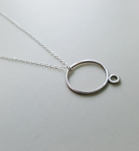 Silver Wire Unpredictable Pendant - necklaces & pendants