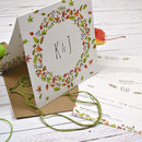 Personalised Autumn Wedding Folded Invitation Set