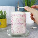 Patterned Christening Candle For Boys And Girls