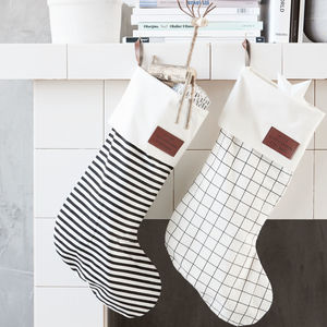 Monochrome Christmas Stocking - stockings & sacks