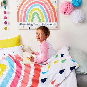 Children's Rainbow Personalised Blanket