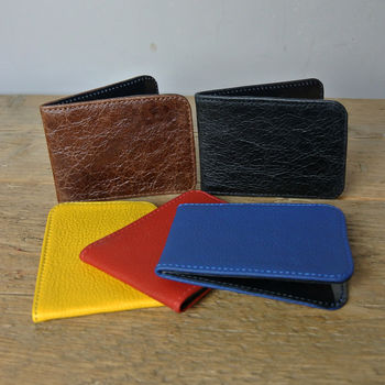 Leather Card Holder Various Colours