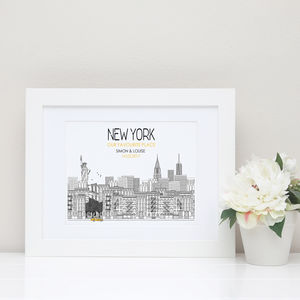 New York Skyline Personalised Print