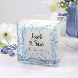 Scented Anniversary Luxury Square Candle - dining room