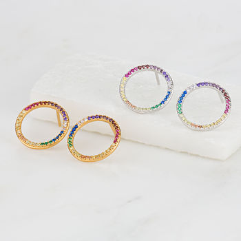 Over The Rainbow Hoop Earrings