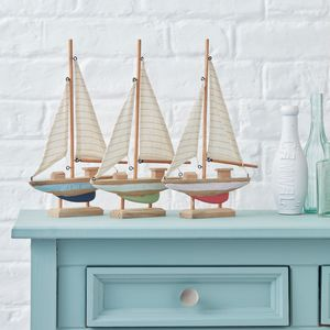 Wooden Boat - ornaments