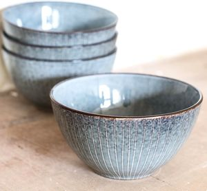 Grey Toned Stoneware Bowl - tableware