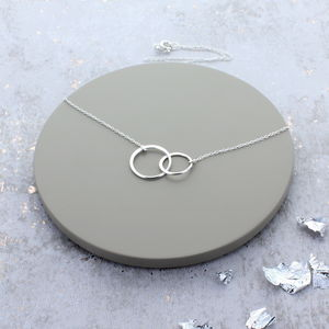Sterling Silver Infinity Link Necklace - women's jewellery