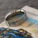 Stylish Mens Matt Steel Band Ring