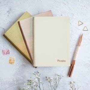 Personalised Coloured Leather Notebook - gifts for her