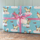 unicorn gift wrap and tag