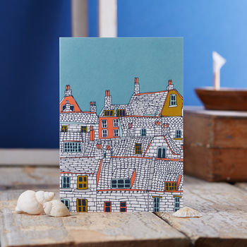 Over The Rooftops Blank Greetings Card