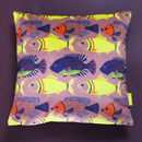 Dusty Pink Fish Velvet Cushion